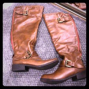 Madden Girl Cognac Riding Boots